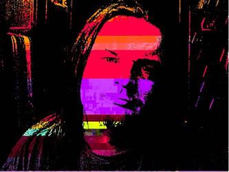 Mike Nobody Glitch Portrait
