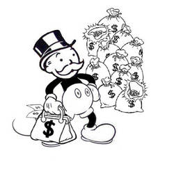 MoneyBags Monopoly Mouse by MikeNobody