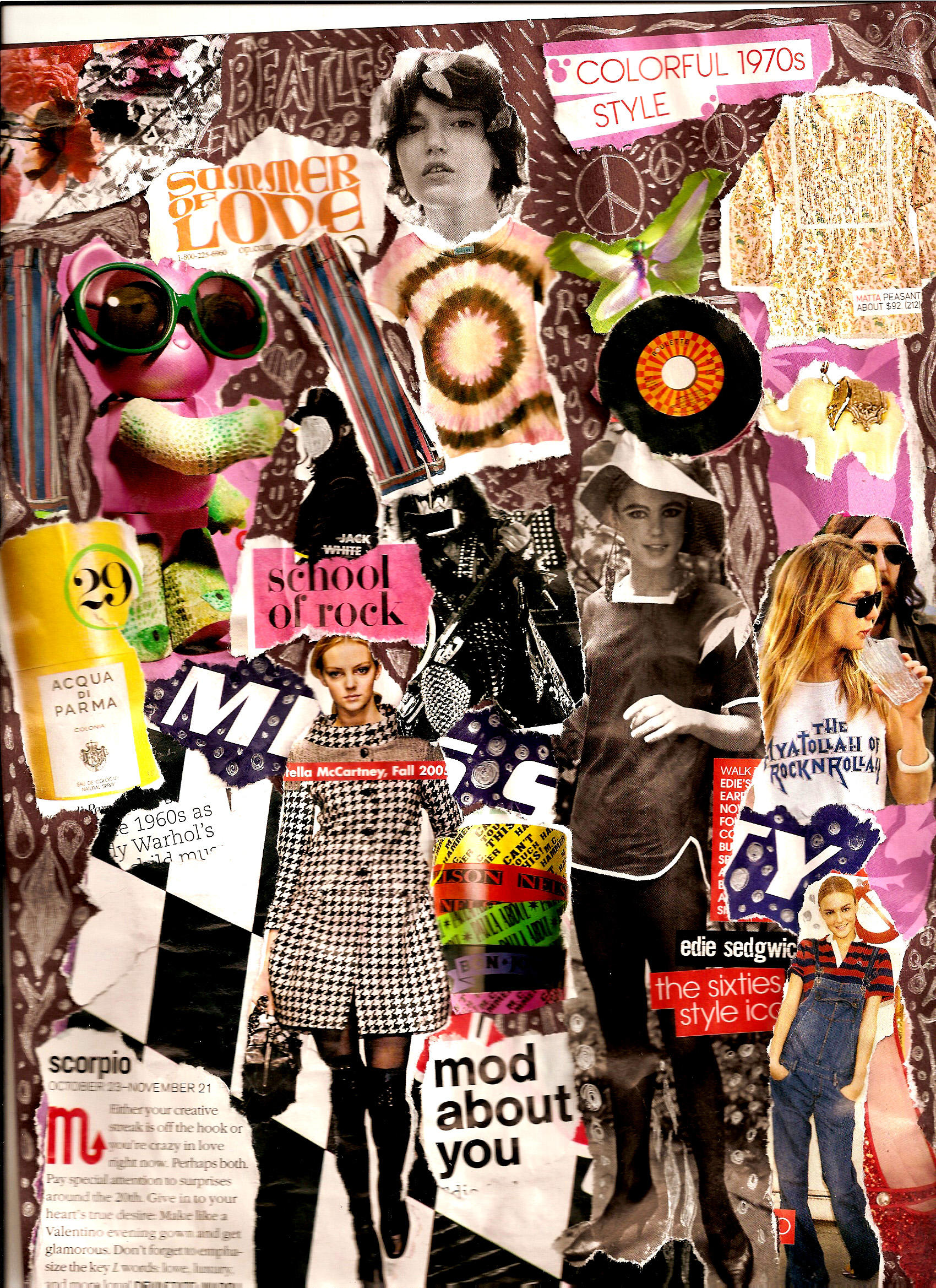 Vintage Collage Twitter Background | www.imgkid.com - The ...