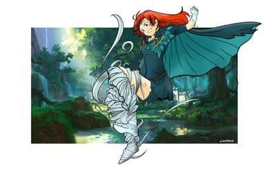 Wind Ranger Dota2 Arcana Fan art