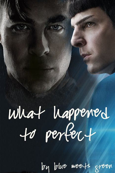 Kirk and Spock (my cover art for my latest fic) by HelloBlueMeetsGreen