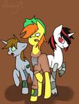 Applejuice, Little Pip, and Blackjack