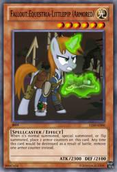 Fallout Equestria-Littlepip Armored YuGiOh card by Digigex90