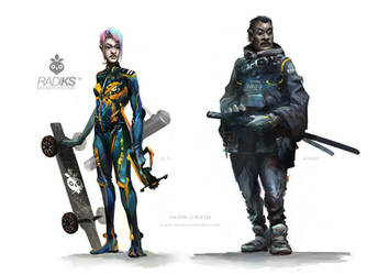 Snow Crash character art by editmode