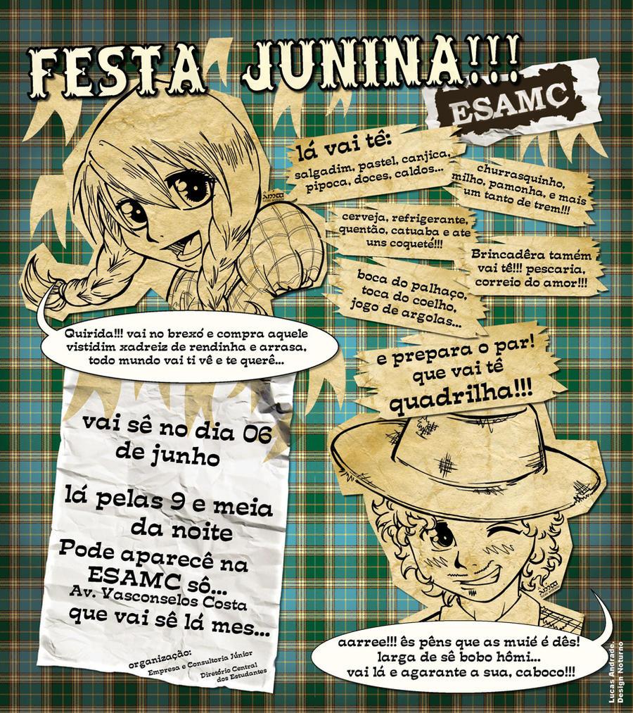 Cartaz Festa Junina - ESAMC by Ainon