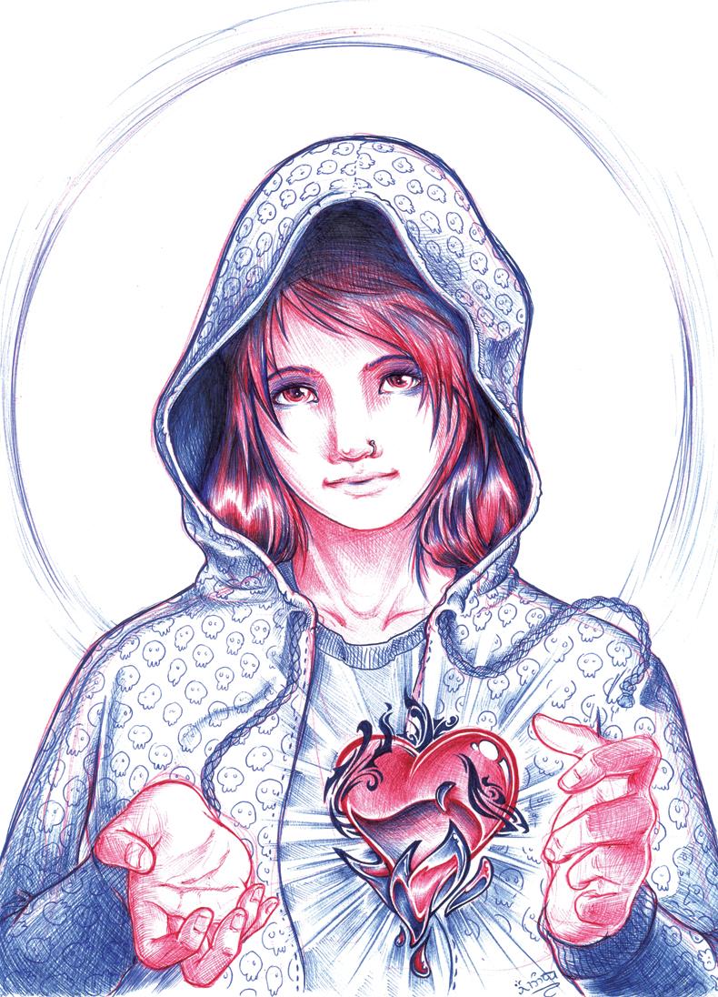 Virgin Mary by Ainon on DeviantArt