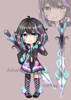 [open] adoptable electric girl by icemagicp