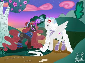 BSSMxMLP-Sailor Artemis+Hecate: A Day in Equestria by NemoTurunen