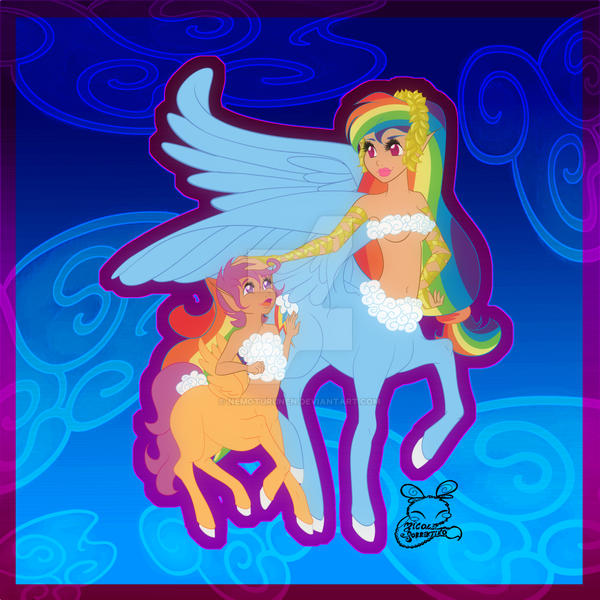 Rainbow Dash And Scootaloo Human Rainbow Dash And Scootaloo The