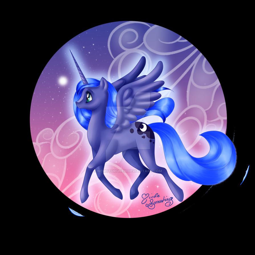 Luna, A Twinkle in the Sky by NemoTurunen