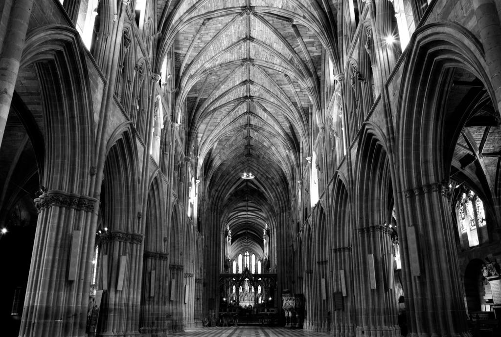 Black And White Worcester Cathedral By Adamstephensonscfc
