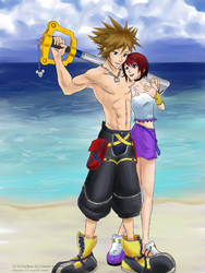 Buff Sora and Kairi - Commissh