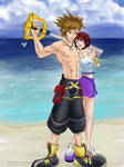 Buff Sora and Kairi - Commissh