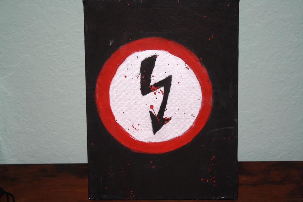 Marilyn Manson Shock Symbol Painting By Robdulga On Deviantart