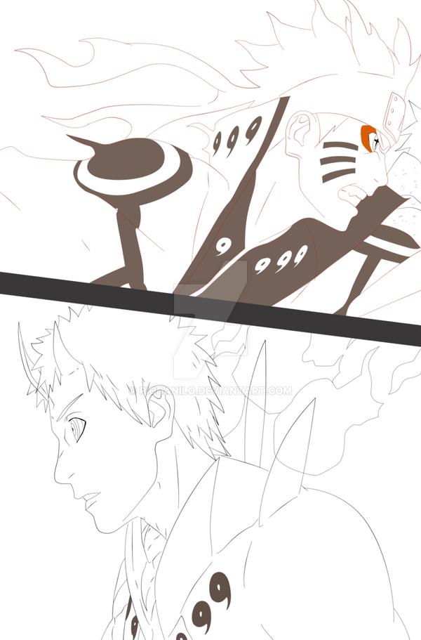 Naruto 652 Lineart by PioDanilo
