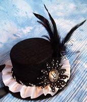 SteamPunk hat with skull by ranmanekineko