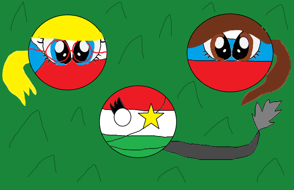 Me, Star and Alexei as Country Balls by michalkastara