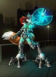 WIP: CyberVixin Commission by GravityArchangel