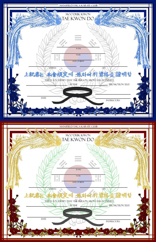 Belt certificate template by gravityarchangel on deviantart for Black belt certificate template