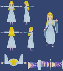 Skyward Sword: Surface Zelda by ShrubbyNerb