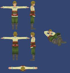 Skyward Sword: Skyloft Link Reference by ShrubbyNerb