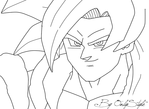 Goku Ssj Dios F Para Colorear Goku Ssj Dios F Para Imprimir: Lineart Gogeta SS4 By ByOnlyStyle On DeviantArt