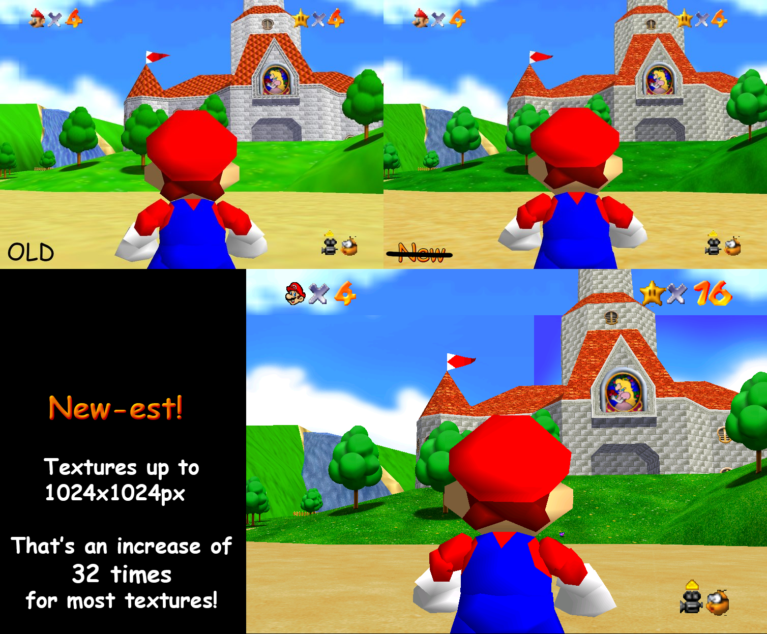Super Mario 64 High Resolution Texture Pack By Myownfriend On