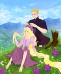 Rapunzel+PrinceOc (commission)