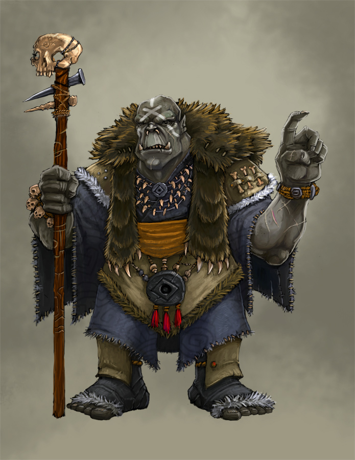 Concept Orc Shaman by Patmos