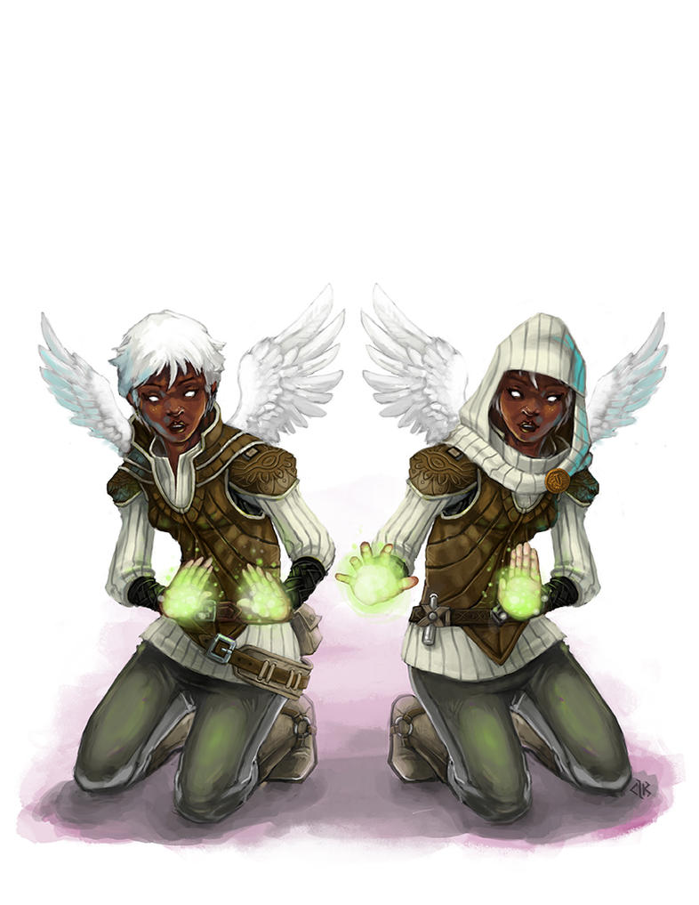 Aasimar Twins by Patmos