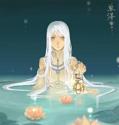 Lotus Moon by skydestinies