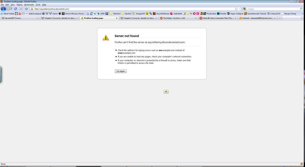 Page load error firefox