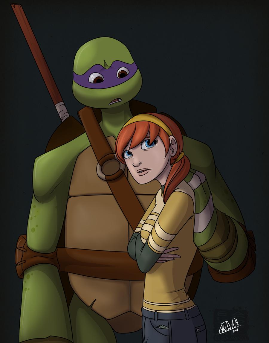 Teenage mutant ninja turtles april and donatello kiss - photo#27