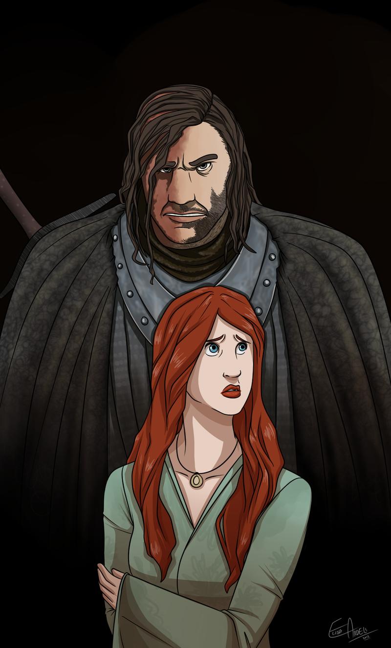 Sandor and Sansa by lledra on DeviantArt