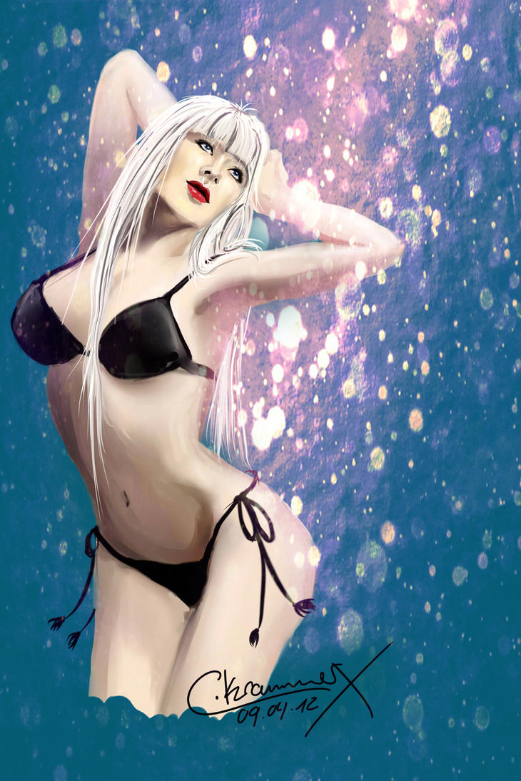 Star Rain Girl by MsCassyK