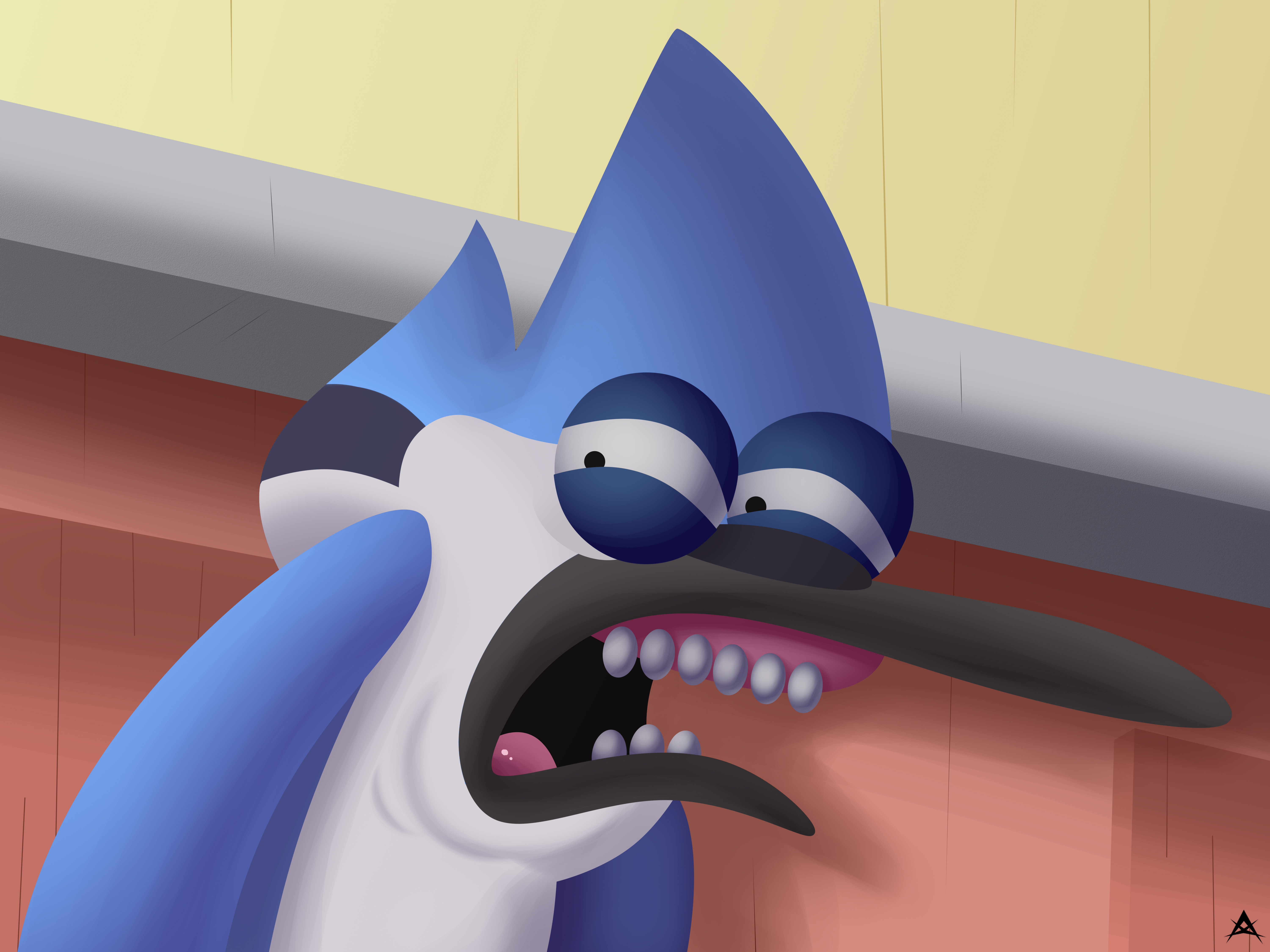 Mordecai Disgusted Face Hd By Elsnourai On Deviantart A sketch of sally making a grossed out face. deviantart