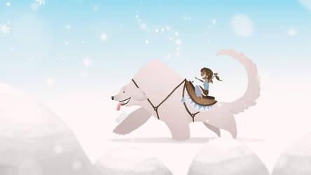 Korra snowbending by Kaminarai