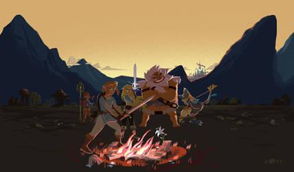 Champions of Hyrule by Kaminarai