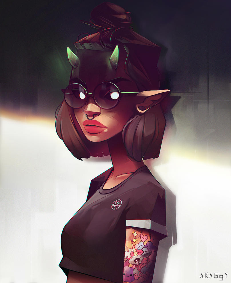 Iris demone by Akaggy