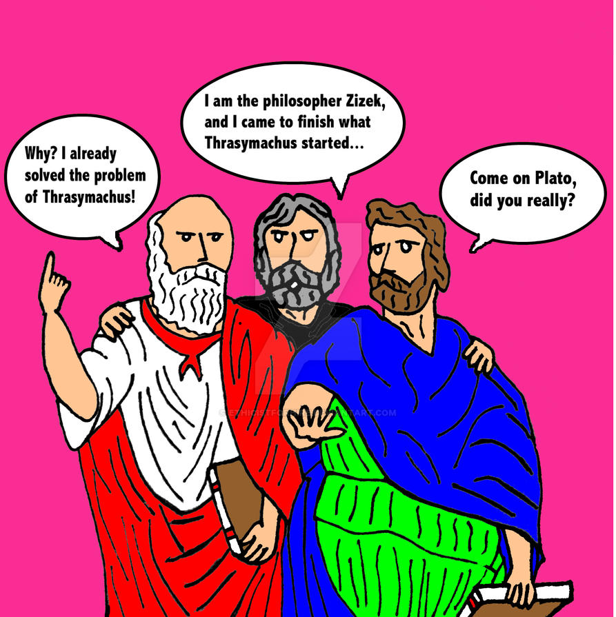 Plato, Aristotle, and Zizek by ethicistforhire on DeviantArt