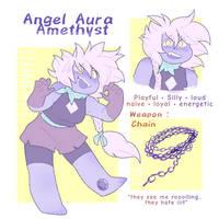 Angel Aura Amethyst - gemsona