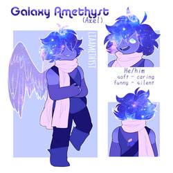 Galaxy Amethyst - gemsona