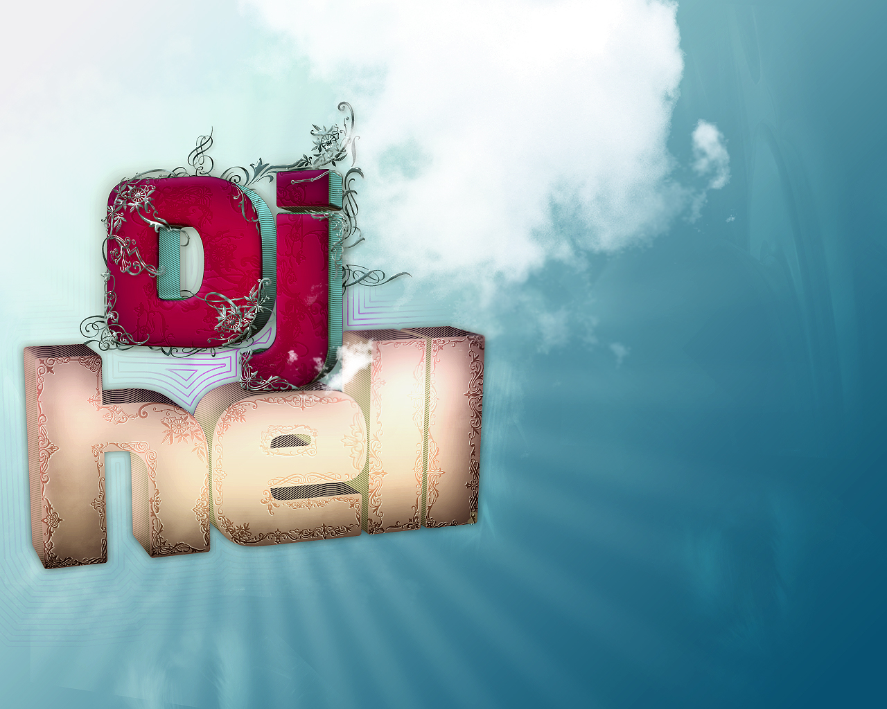 3d lettering: Dj Hell by muschetarul