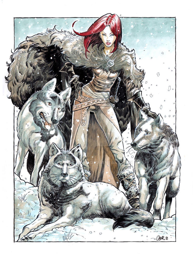 Isabellae with wolfes by Gabor-Bd