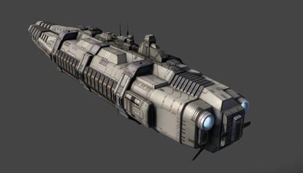 Battlecruiser - rear view by PowerPointRanger