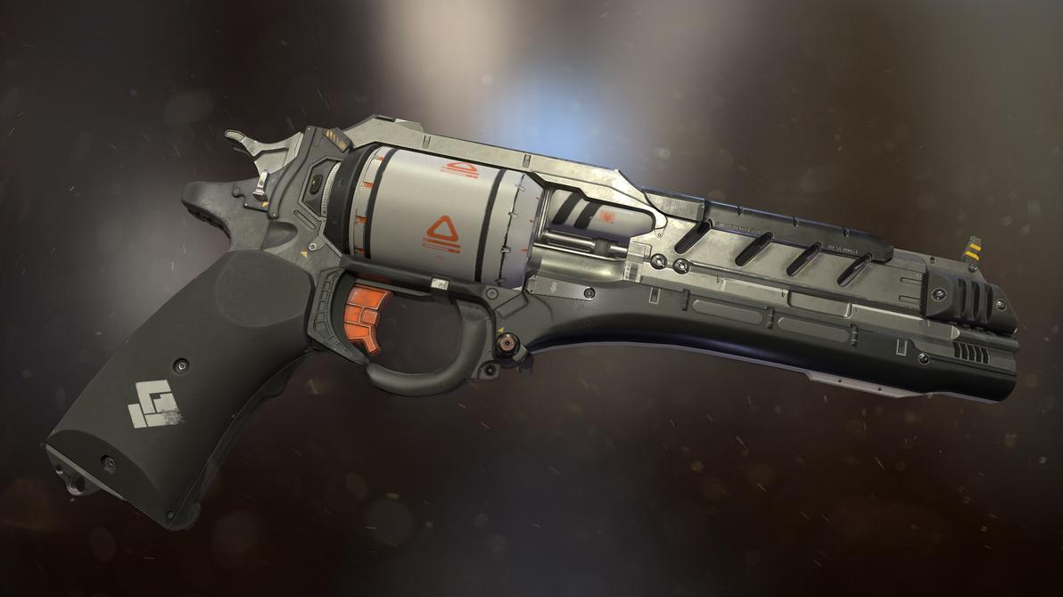 Sci-fi revolver by PowerPointRanger