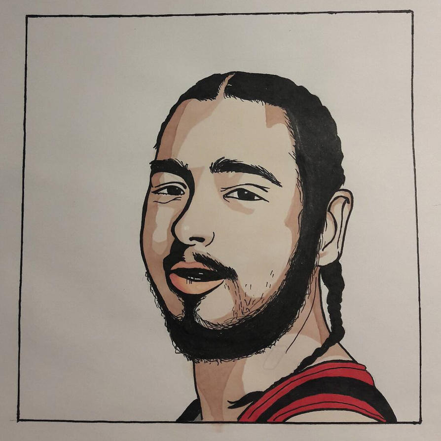 Post Malone Drawing: ShaiyAyiahs (Klaudia Cichoń)