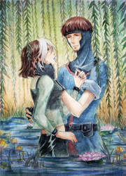 Rogue and Gambit by baka-ouji