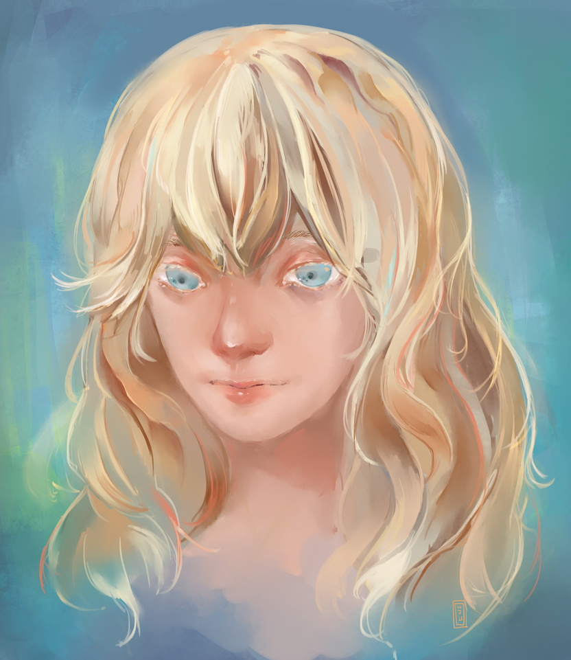blond girl by demios04