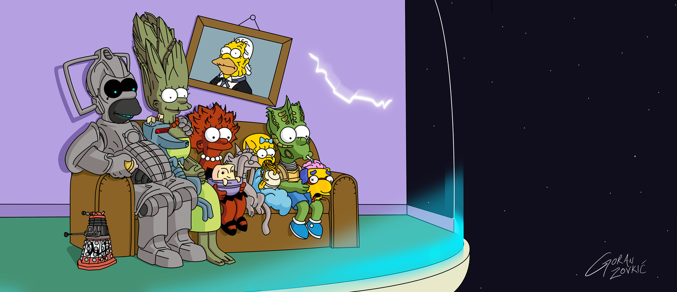 Doctor Who - Simpsons Couch Gag by belgoran